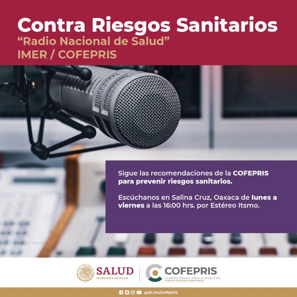 Programa de radio vs riesgos sanitarios