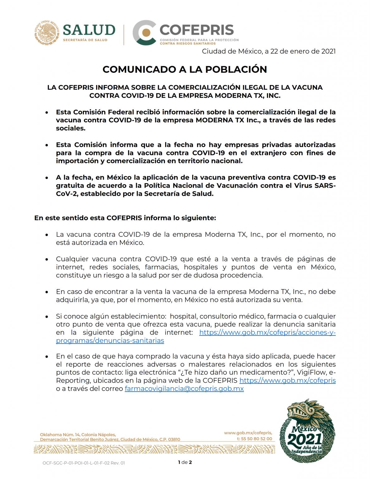 Comunicado_Vacuna_Covid_Moderna_220121_001